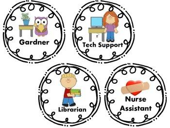 Classroom Job Labels - Conscious Discipline