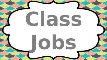 Classroom Job Labels - Mermaid Theme