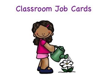 Classroom Job Labels (Pink)
