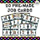 Classroom Job Labels - EDITABLE - Polka Dot Theme - Pre-made and Blank Labels