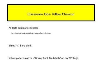 Classroom Job Labels (Yellow)