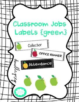 Classroom Job Labels {green}