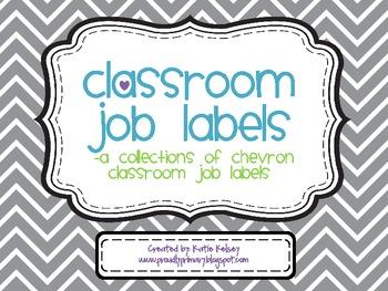 Classroom Job Labels_Back to School