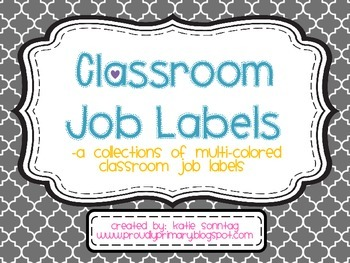 Classroom Job Labels_Multi Colored_Back to School