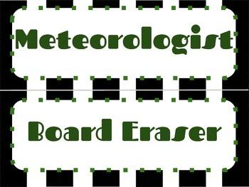 Classroom Job Labels / Cards -Mini Economy