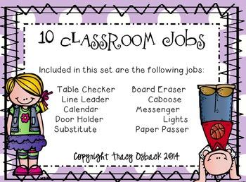 Classroom Job List
