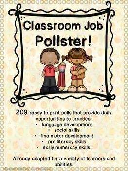 Classroom Job- POLLSTER!