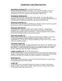 Classroom Job Packet