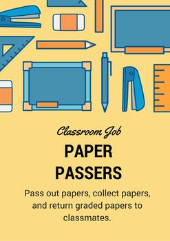Classroom Job - Paper Passer
