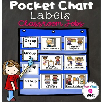 Classroom Jobs Pocket Chart Labels