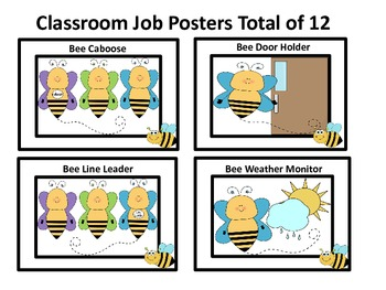 Classroom Job Poster Cards