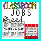 Classroom Job Poster (Table Jobs)