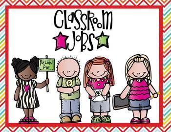 Classroom Job Posters - Chevron
