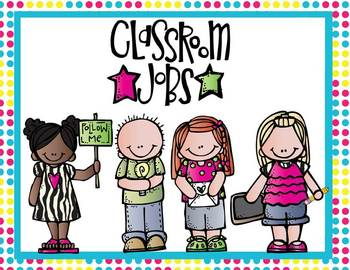 Classroom Job Posters - hot pink polka dots