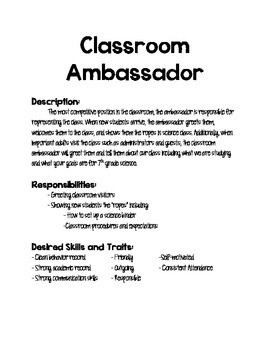 Classroom Job Postings