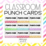 Classroom Job Punch Cards {Free}