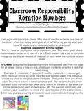 Classroom Job Rotation Numbers