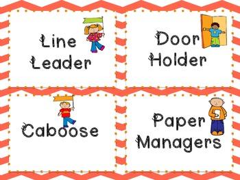 Classroom Job Signs