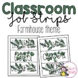 Classroom Job Strips- Farmhouse Theme
