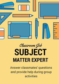 Classroom Job - Subject Matter Expert