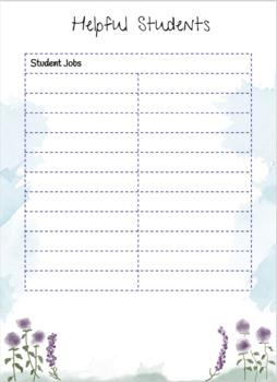 Classroom Job Template
