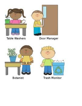 Classroom Job Visuals