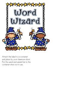 Classroom Job: Word Wizard