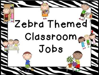 Classroom Job-Zebra Themed