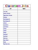 Classroom JobChart