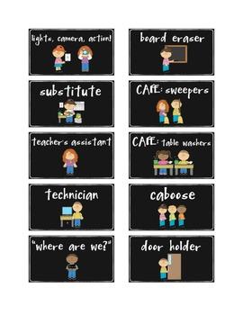 B&W THEME - Classroom Jobs