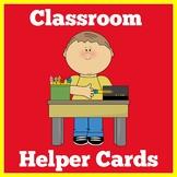 Classroom Jobs | Preschool Kindergarten 1st Grade | Classroom Helpers