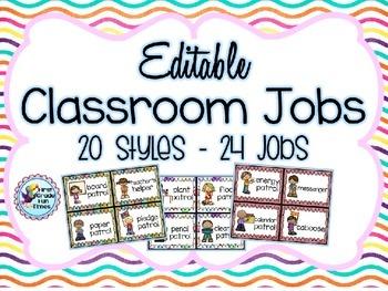 Classroom Jobs Classroom Decor Clip Chart