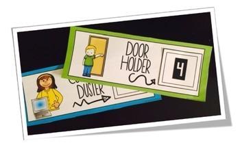Classroom Jobs Labels: Classroom Helpers