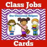 Classroom Jobs | Preschool Kindergarten 1st Grade | Class Jobs | Cards