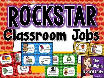 Classroom Jobs Rock Star Theme