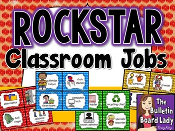 Classroom Jobs Rock Star Theme