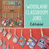 Editable Woodland Classroom Jobs - Classroom Job Chart Display - Class Jobs
