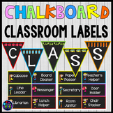 Chalkboard Classroom Editable Labels for Classroom Jobs Editable