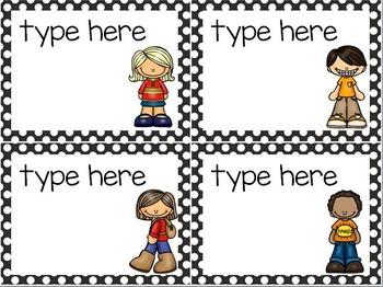 Classroom Helpers - 44 Illustrated Job Cards - Plus Editables - Polka Dot