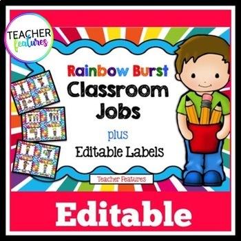 Editable Job Chart (Rainbow Burst)