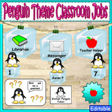 Penguin Theme Classroom Jobs