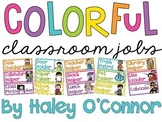 Colorful and Bright Classroom Jobs Display