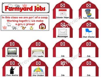 Farm Theme Classroom Jobs