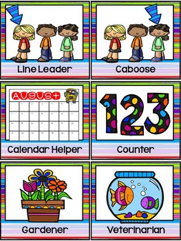 Rainbow Classroom Jobs Chart By Pocket Of Preschool Tpt