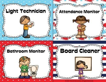 EDITABLE Classroom Jobs with Pictures {Nautical Theme}