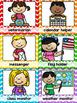 Classroom Jobs {Primary Colors Chevron Classroom Decor Theme}