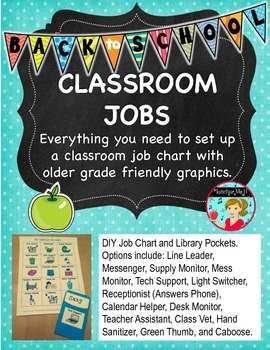 Classroom Jobs for Upper Elementary and Older Grades