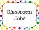Classroom Jobs - FREE