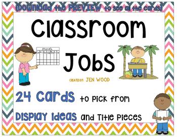 Classroom Jobs - 24 Cards!
