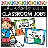 Classroom Jobs - White